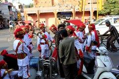 Indiańska orkiestra w ulicie zdjęcie stock