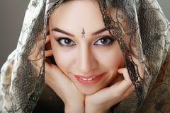 Indiańska piękno twarz Zdjęcia Stock