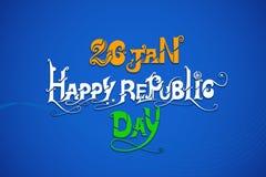 Indiańska tricolor flaga dla Szczęśliwego republika dnia Fotografia Royalty Free