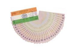 Indiańska waluta z flaga Obrazy Royalty Free
