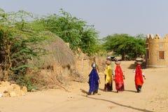 Indiańska wieś Zdjęcie Royalty Free