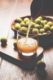 Indiański agrest lub owoc Amla lub avla, selekcyjna ostrość Obraz Stock