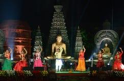 Indiański artysta w Bodhgaya, Bihar, India obraz royalty free