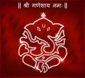 Indiański bóg ganesha, szczęśliwa ganesh chaturthi karta zdjęcia royalty free
