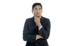 Indiański biznesowy męski główkowanie Zdjęcie Royalty Free