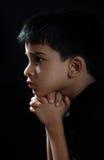 Indiański chłopiec modlenie Obraz Stock