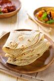 Indiański Chapati lub chapatti zdjęcie royalty free