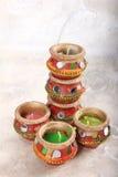 Indiański dekoracyjny świeczka garnek zdjęcie stock