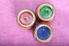 Indiański dekoracyjny kolorowy świeczka garnek zdjęcie stock