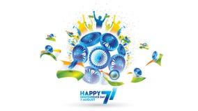 Indiański dnia niepodległości projekt dla witać, sztandar lub tło ilustracja wektor