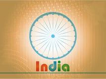 Indiański dnia niepodległości tło z 3D Ashoka  Zdjęcia Royalty Free