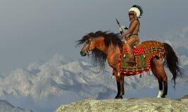 Indiański Dumny Eagle ilustracja wektor