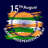 Indiański dzień niepodległości z Ashoka koła 15 th august Zdjęcia Royalty Free