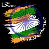 Indiański dzień niepodległości z Ashoka koła 15 th august colo Zdjęcie Royalty Free
