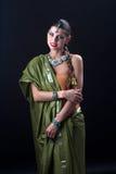 Indiański dziewczyna taniec zdjęcie royalty free