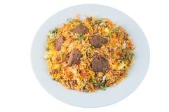 Indiański jagnięcy risotto lub biryani obraz royalty free