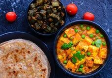 Indiański jarski posiłek - Północny Indiański główny kurs obraz stock