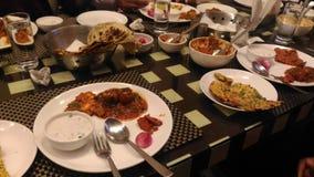Indiański jedzenie & x28; Dinner& x29; obraz stock