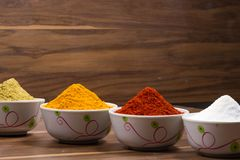 Indiański jedzenie proszek zdjęcie stock