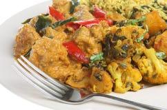Indiański Korma jagnięcy Curry Obraz Stock