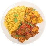 Indiański Kurczaka Curry'ego Posiłek Fotografia Royalty Free