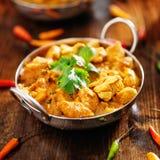 Indiański kurczaka curry w balti naczyniu zdjęcie royalty free