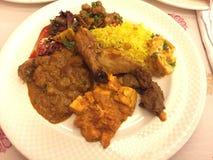 Indiański lunchu bufet w New Delhi zdjęcie royalty free
