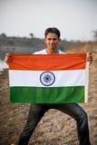 Indiański mężczyzna i hindus flaga fotografia royalty free