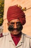 Indiański mężczyzna w mundurze z pięknym wąsy Zdjęcie Stock