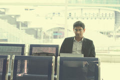 Indiański męski biznesowego mężczyzna działanie Zdjęcie Stock