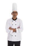 Indiański męski szef kuchni Obraz Stock