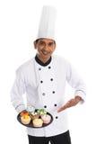 Indiański męski szef kuchni Zdjęcia Royalty Free