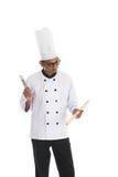 Indiański męski szef kuchni Fotografia Royalty Free