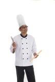 Indiański męski szef kuchni Zdjęcie Royalty Free