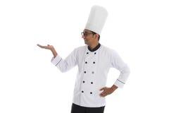 Indiański męski szef kuchni Obrazy Royalty Free