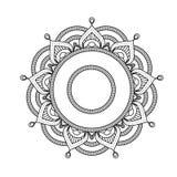 Indiański mandala - kwitnie stylowego round marokańskiego wzór Fotografia Royalty Free