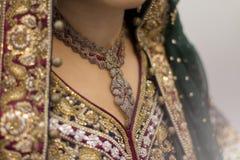 Indiański panny młodej jewellery Zdjęcie Royalty Free