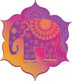 Indiański słoń z teksturą Zdjęcie Stock