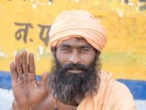 Indiański sadhu - święty mężczyzna fotografia stock