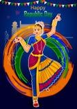 Indiański tancerz na 26th Styczniu, Szczęśliwy republika dzień India Zdjęcia Stock