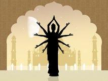 Indiański taniec przy meczetem ilustracja wektor