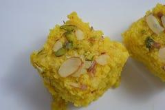 Indiański tradycyjny Mangowy słodki deser Obrazy Royalty Free