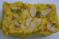Indiański tradycyjny Mangowy słodki deser Obrazy Stock