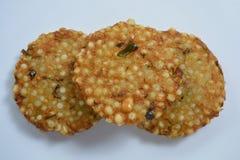 Indiański tradycyjny smażący karmowy Sabudana vada, Sago Cutlet odgórny widok/ Obraz Royalty Free