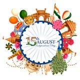 Indiański tricolor tło dla 15th Sierpniowego Szczęśliwego dnia niepodległości India Fotografia Royalty Free