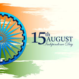 Indiański tricolor tło dla 15th Sierpniowego Szczęśliwego dnia niepodległości India Obraz Stock