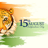 Indiański tricolor tło dla 15th Sierpniowego Szczęśliwego dnia niepodległości India Ilustracji