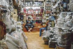 Indiański wlaściciel sklepu Fotografia Stock