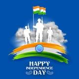 Indiański wojska soilder narodu bohater na dumie India tło ilustracji