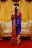 Indiańskie Ślubne fryzury, Indiańskie Bridal fryzury zdjęcia stock